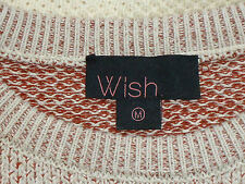 WISH StripedHoneycomb100%CottonSweater SzM
