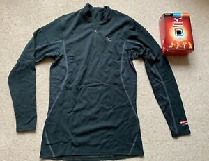 Mizuno Breathe Thermo Baselayer Mid Weight L/S 1/2 Zip Top 73CF150-09 Size Small