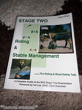 STAGE TWO RIDING & STABLE MANAGEMENT