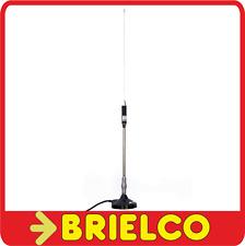 ANTENA CB MOVIL 66CM ACERO INOXIDABLE BASE MAGNETICA 90MM CABLE CON PL BD6668