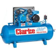 Clarke Industrial Air Compressor Xev16 150 Litre Tank 3hp 14 CFM 400 Volt
