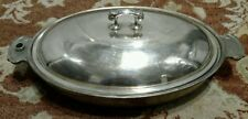 Art Krupp Berndorf Alpacca c.1930 Victoria Villars Hotel Silver Warming Dish