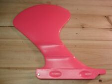 """Longboard fin Pink lexan The Football with lift foil 7 1/2"""""""