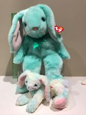 Retired TY HIPPITY the BUNNY BEANIE BUDDY and Cottonball Beanie MINT TAGS