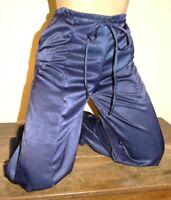 pantalon satiné ample neuf bleu nuit brillant en T 36 ou 38 ou 40 ou 42 ou 44