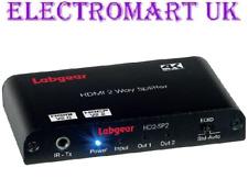 LABGEAR HD2-SP2 2 WAY 1 IN 2 OUT HDMI DISTRIBUTION SPLITTER AMPLIFIER 4K