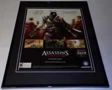 Assassin's Creed II 2009 Framed 11x14 ORIGINAL Advertisement