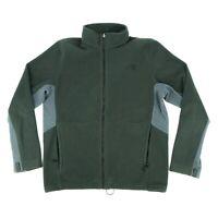The North Face Men's Fleece Jacket Full Zip Mock Neck Zip Pocket Gray Size Large