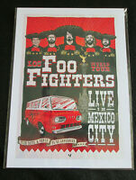 FOO FIGHTERS : LIVE IN MEXICO : A4 GLOSSY REPO POSTER