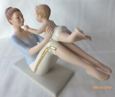 Nib Lenox Joyful Moments Mother Child Baby Yoga Playing Play Figurine Sculpture