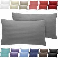 300 Thread Luxury Soft Housewife Sateen Stripe Pillow Case 100% Cotton Bedroom