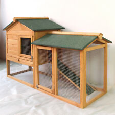 Rabbit Hutch Guinea Pig HUTCHES Run Runs Large 2storey Double Decker Ferret Cage