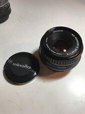 Minolta MD Rokkor-X 1:2 45mm Lens w/ Caps Mint Condition