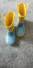 Children's Yellow And Blue Minions Wellington Boots By Despicable Me! Size 11