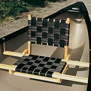 Canoe Web Seat Back, American Ash, Clear Coat