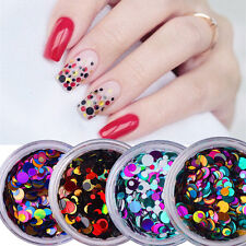 4box Mix Round Nail Ultrathin Sequins Glitter for Acrylic UV Gel Decoration Tips