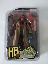 """2008 Mezco Toys Hellboy II 8"""" Red Action Figure with Samaritan and Sword"""