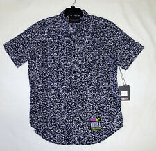 MISHKA NYC Detention Black White Notebook Mens Xl Button Down Shirt Death