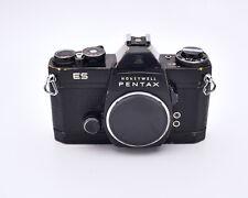 Honeywell Pentax Black Es 35mm Slr Film Camera Body M42 Body Cap (#6837)