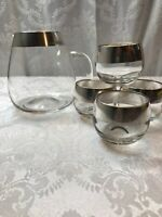 Dorothy Thorpe Style Roly Poly Glasses And Beverage Pitcher set of 5 MCM