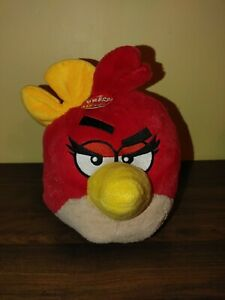 """Angry Birds Plush Red Girl with Yellow Bow 8 1/2"""" Stuffed Animal That Talks"""