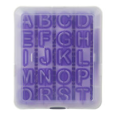 Wilton 42pc Plastic Alphabet / Number Cut Out Set Cutters Case & Removal Tool