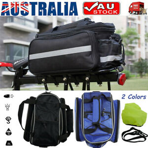 Cycling Bicycle Rear Seat Storage Bag Bike Pannier Rack Handbag Outdoor Race New