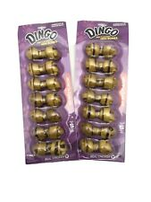 2 Dingo Beef Flavored Mini Rawhide Bones for Small/Toy Dogs,