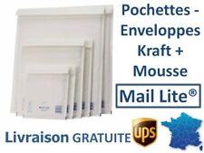LOT 200 POCHETTES MAIL LITE ® 110X160MM ENVELOPPES KRAFT MATELASSEES MOUSSE PE