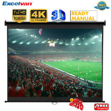 """100"""" 16:9 1.2Gain Manual Pull Down Projector Projection Screen HD Cinema Theater"""