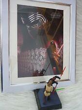 Star Wars Force Awakens Kylo Ren Art Framed Print ZBox & Tomy figure Darth maul