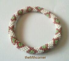 Glass Beads Roll On Lily and Laura Like Bracelet Band Handmade Nepal FAIRTRADE