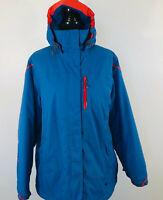 Lands End Womens Size 2X Blue Hooded Hoodie Coat Jacket Winter Parka