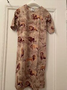 Hermes Paris cotton dress, t-shirt dress, lion print, size m, new without tags