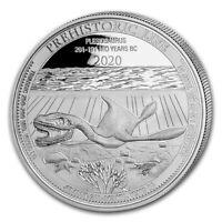 2020 Congo Plesiosaurus BU Prehistoric Life 1 oz .999 Silver coin Dinosaur NEW#2