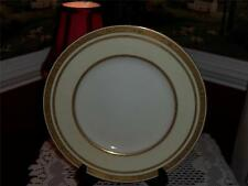 TIFFANY & CO.  DINNER PLATES (4) M2949 GOLD RIM VERY RARE TRIPLE LINES.
