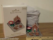 Hallmark 2011 Season's Treatings Gingerbread House Baking Ornament 3rd In Series