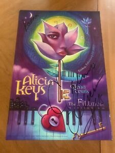 Alicia Keys Signed Denver Fillmore FDN 12  Concert Poster
