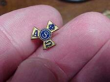 "Alpha Phi Omega Fraternity Sorority Antique Srewback ""S""  Pin  (15A1)"