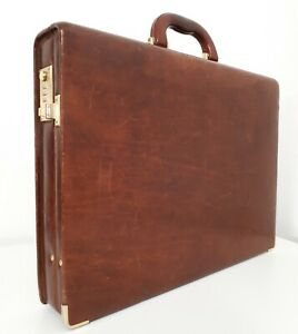 Vintage Aldo Raffa Brown Leather Briefcase