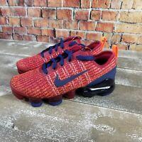 Nike Vapormax Flyknit 3 GS Red Blue Running Shoes BQ5238-602 4Y Women's 5.5.