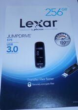 Brand New Lexar JumpDrive S75 USB 3.0 Flash Drive 256GB - Free Ship!