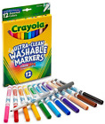 Crayola Fine Line Markers, Washable Markers, 12 Count