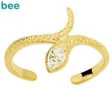 Snake Diamond 9ct Solid Yellow Gold Toe Ring Adjustable 24900