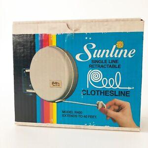 VTG Sunline Single Line Retractable Clothesline 40ft Butts Manufacturing R400