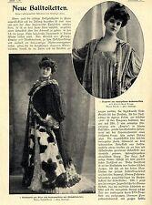 Neue Balltoiletten in Prinzeß- Empire- und Direktoireform Text/Bilddokument 1906
