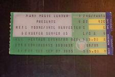 NEIL YOUNG 1985 TICKET STUB***MANN MUSIC CENTER PHILADELPHIA**SEPTEMBER 7, 1985*