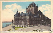 Canada - Champlain monument and chateau Frontenac hotel, Quebec ( i 501)