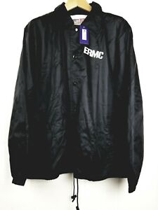 National Patrol Unisex Black lined Windbreaker Size XL Snap Up Security