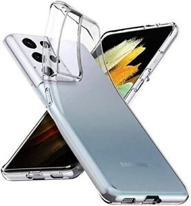 CLEAR CASE For Samsung Galaxy S20 S21 Ultra Plus TPU Hybrid Silicone Cover